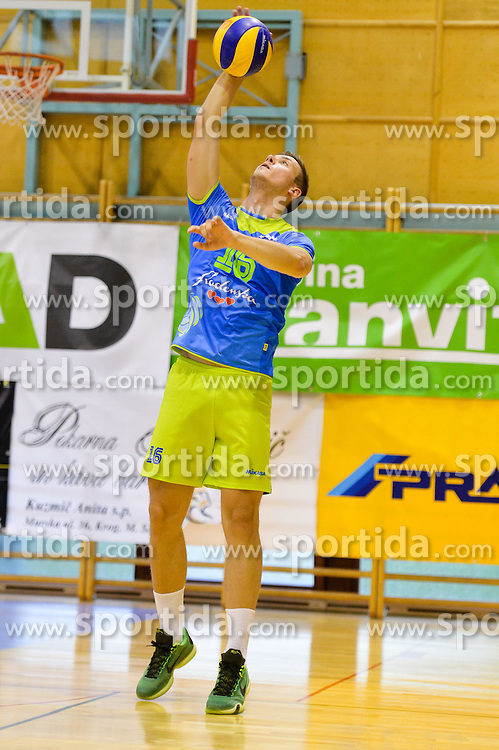 Filip Uremovic of Slovenia during the Friendly Volleyball match between OK Panvita Pomgrad and U21 Nationalteam of Slovenia on August 28, 2015 in Murska Sobota, Slovenia. Photo by Mario Horvat / Sportida