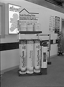Irish roofing feels display stand at Cladurck's,<br /> 1st June 1984