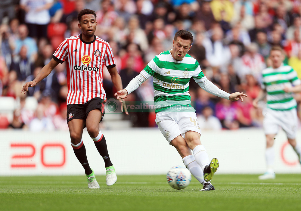 Celtic's Callum McGregor scores his sides second goal during the pre-season match at the Stadium of Light, Sunderland.