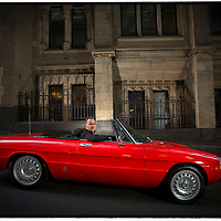 GM head of Exterior Design, Aus/Pac Peter Hughes with his Alfa Romeo 1750 Spider). Pic by Shannon Morris