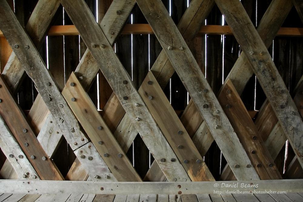 Covered bridge detail, Bath County, Kentucky
