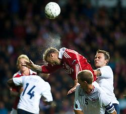 [DK=06-09-2011: EURO 2012 Kval. Danmark vs. Norge -  Nicklas Bendtner, Danmark - Brede Hangeland, Norge..© Lars Rønbøg / Sportsagency ].[UK=06-09-2011: EURO 2012 Qual. Denmark vs. Norway - Nicklas Bendtner, Denmark - Brede Hangeland, Norway..© Lars Ronbog / Sportsagency ].