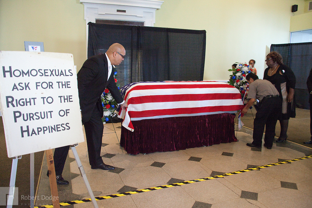 Two memorials, one public and one on Capitol Hill, were held in late 2011 for gay and lesbian civil rights leader Franklin Kameny. The two services were attended by Reps. Barney Frank, D-Ma., and Tammy Baldwin, D-Wi., Washington DC city councilmen Jim Graham and David Catania, as well as Police Chief Cathy Lanier and U.S. Army activist Dan Choi. The events were organized by local public relations executives Bob Witeck and Charles Frances.