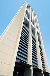 New  mixed use  residential and commercial Index Tower designed by Norman Foster in Dubai United Arab Emirates