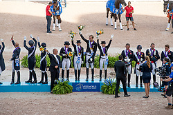 Team Germany, Team Great Britain, Team United States<br /> World Equestrian Games - Tryon 2018<br /> © Hippo Foto - Dirk Caremans<br /> 13/09/2018