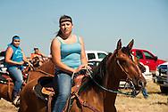 Fort Belknap Indian Reservation, Montana, Milk River Memorial Horse Races, women riders.