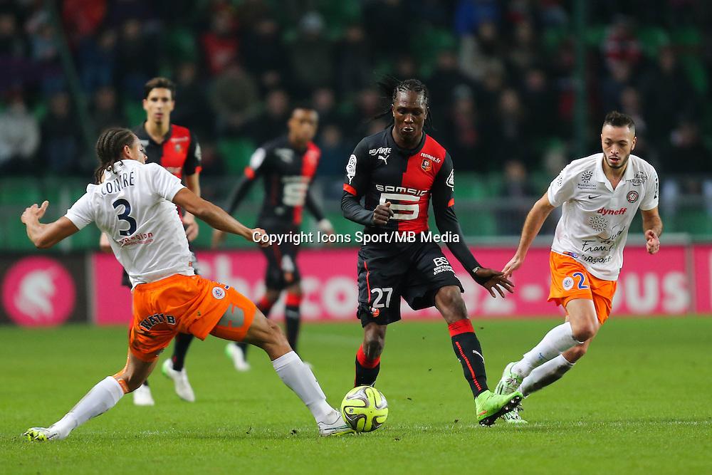 Habib HABIBOU / Daniel CONGRE - 06.12.2014 - Rennes / Montpellier - 17eme journee de Ligue 1 -<br />Photo : Vincent Michel / Icon Sport