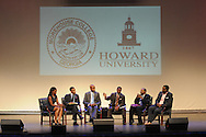 Panelist discuss the impact of the youth vote on the 2012 elections during the Presidential Symposium at Howard University Thursday August 30, 2012. The Symposium is just one of several events surrounding the AT&Ts  Nations Football Classic between Howard University and Morehouse University.  (Photo by Alan Lessig)
