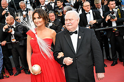 Lech Walesa and guest attending the 'The Meyerowitz Stories (New and Selected)' premiere during the 70th Cannes Film Festival on May 21, 2017 in Cannes, France. Photo by Julien Zannoni/APS-Medias/ABACAPRESS.COM