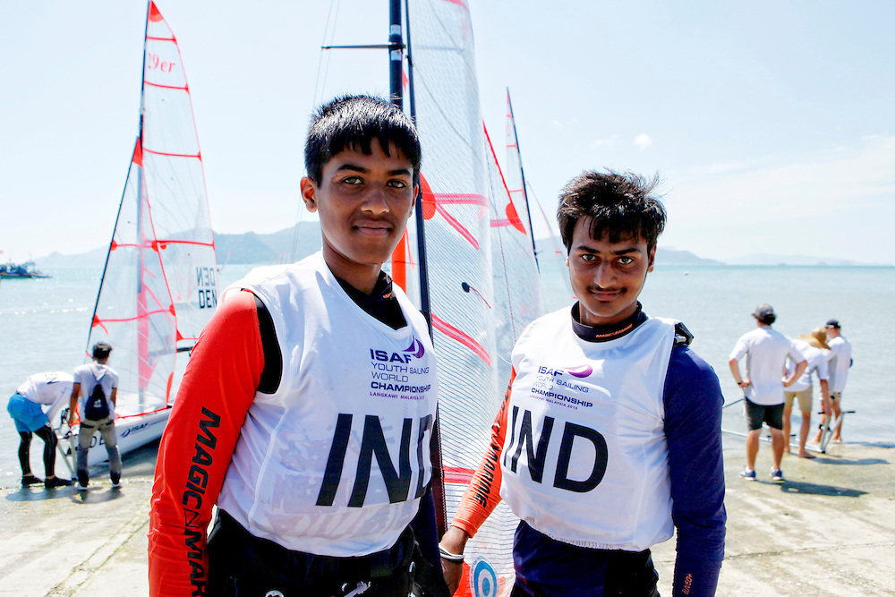 India29erMenCrewINDAS11AlankarSuryawanshi<br />India29erMenHelmINDAT7AnandThakur<br />Day6, Final Day, 2015 Youth Sailing World Championships,<br />Langkawi, Malaysia