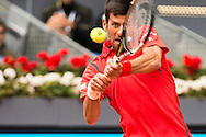 Novak Djokovic during the Madrid Open at Manzanares Park Tennis Centre, Madrid<br /> Picture by EXPA Pictures/Focus Images Ltd 07814482222<br /> 05/05/2016<br /> ***UK &amp; IRELAND ONLY***<br /> EXPA-ESP-160505-0089.jpg
