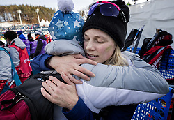 February 15, 2018 - Pyeongchang, MN, SKO - Jessie Diggins gets a hug from her mother Deb at the end of the race after finishing fifth in the women's 10km Free at Alpensia Cross-Country Centre on Feb. 15, 2018 during the Pyeongchang Winter Olympics. (Credit Image: © Carlos Gonzalez/TNS via ZUMA Wire)