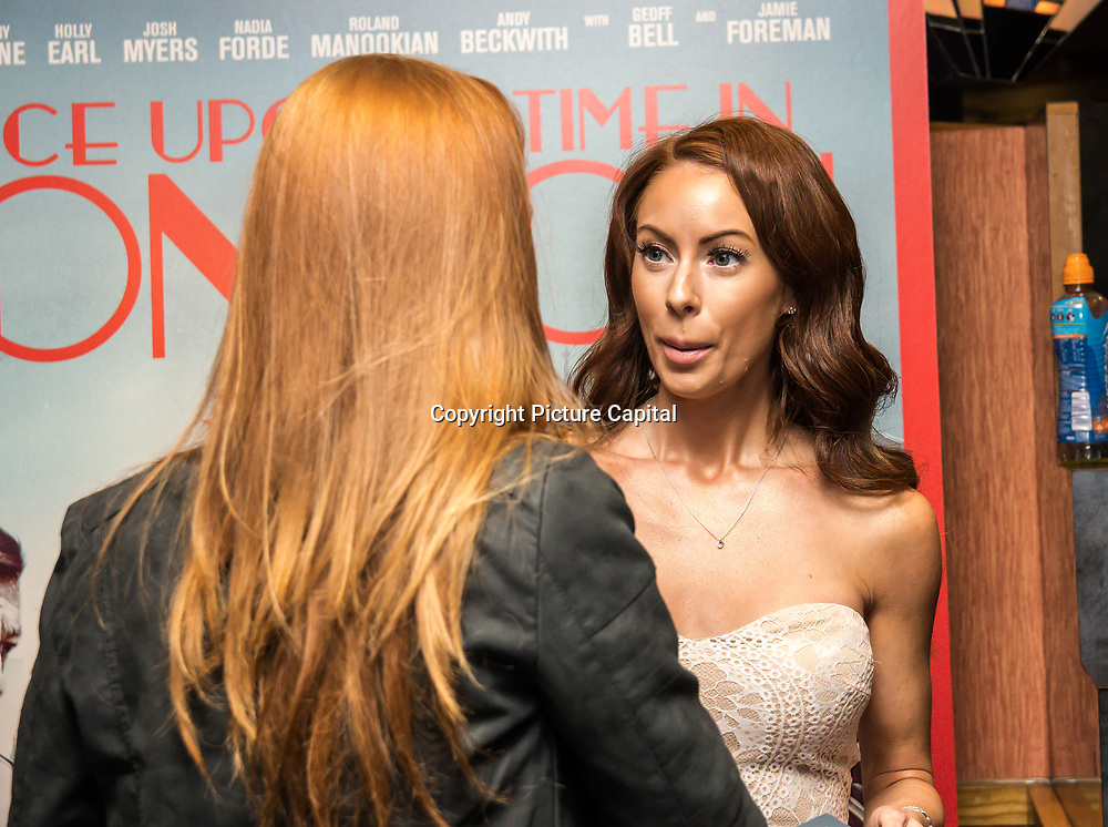 Laura Carter Arrivers at Once Upon a Time in London - London premiere of the rise and fall of a nationwide criminal empire that paved the way for notorious London gangsters the Kray Twins and the Richardsons at The Troxy 490 Commercial Road, on 15 April 2019, London, UK.