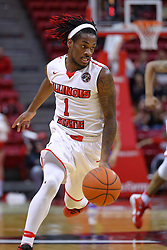 29 December 2016:  Paris Lee(1) during an NCAA  MVC (Missouri Valley conference) mens basketball game between the Evansville Purple Aces the Illinois State Redbirds in  Redbird Arena, Normal IL