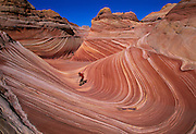 Coyote Buttes is located in the Paria Canyon-Vermillion Cliffs Wilderness area near the Utah-Arizona border.