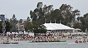 San Diego, California. USA,   2013 San Diego Crew Classic, Mission Bay.  General View, GV, crews pass the public area on the beach, heading towards the Finish. 10:15:18   Sunday  07/04/2013  [Mandatory Credit. Karon Phillips/Intersport Images]..
