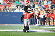 Rebel the Black Bear mascot at Vaught-Hemingway Stadium in Oxford, Miss. on Saturday, September 10, 2011. Ole Miss won 42-24.
