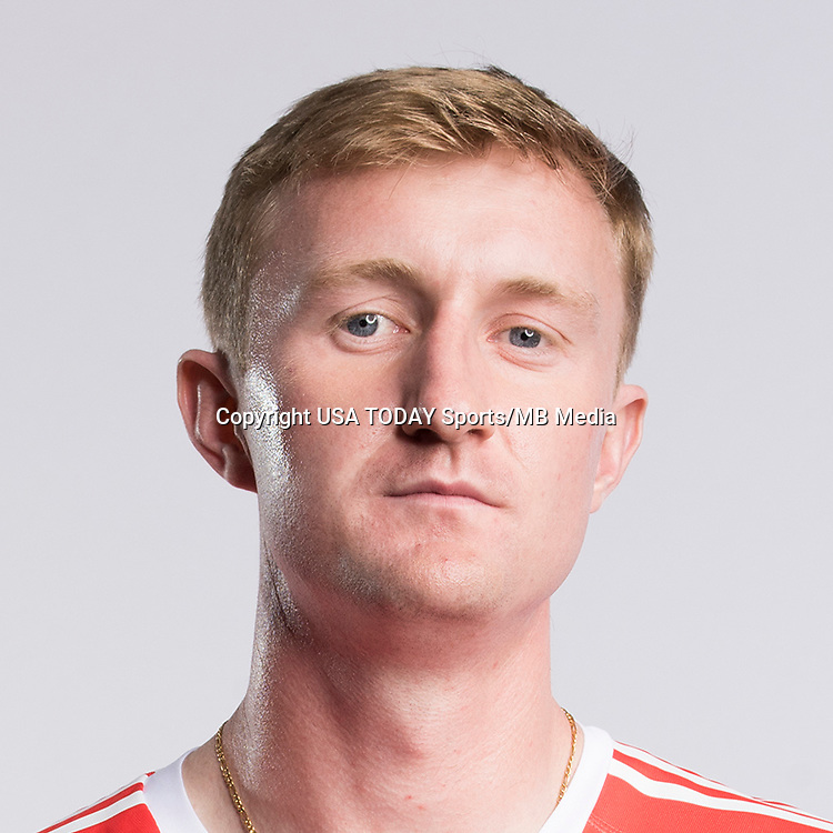 Feb 25, 2017; USA; New York Red Bulls player Ryan Meara poses for a photo. Mandatory Credit: USA TODAY Sports