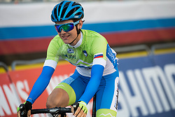 Arrival  of KERN Spela of Slovenia during the Women's Elite Road Race a 156.2km race from Kufstein to Innsbruck 582m at the 91st UCI Road World Championships 2018 / RR / RWC / on September 29, 2018 in Innsbruck, Austria. Photo by Vid Ponikvar / Sportida