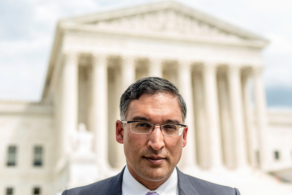 WASHINGTON, DC -- 8/10/17 -- Supreme Court lawyer Neal Katyal is one of the leading attorneys for the state of Hawaii as they fight President Trump's travel ban. Katyal, now an attorney with Hogan Lovells, and former Acting Solicitor General, has argued more cases before the Supreme Court, 34, than any other minority attorney except Thurgood Marshall, with whom he's currently tied..…by André Chung #_AC14006