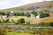 Village quarry and buildings, Merrivale, Dartmoor national park, Devon, England