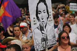 May 27, 2017 - Madrid, Madrid, Spain - Massive crowds gather during a protest against the Government in Madrid, calling for bread, house and solidarity. (Credit Image: © Mercedes Menendez/Pacific Press via ZUMA Wire)