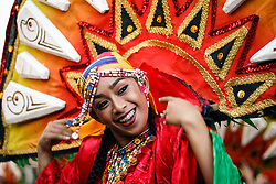 April 28, 2018 - Manila, Philippines - Participants from different parts of the country danced their way along Roxas Boulevard in Manila as they take part in Aliwan (amusement) Festival 2018. (Credit Image: © J Gerard Seguia via ZUMA Wire)