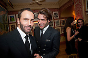 TOM FORD; Jon Kortajarena, Graydon Carter hosts a diner for Tom Ford to celebrate the London premiere of ' A Single Man' Harry's Bar. South Audley St. London. 1 February 2010