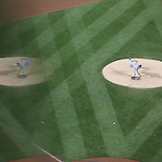 Pitcher Max Scherzer, Washington Nationals, pitching during the New York Mets Vs Washington Nationals MLB regular season baseball game at Citi Field, Queens, New York. USA. 1st May 2015. Photo Tim Clayton