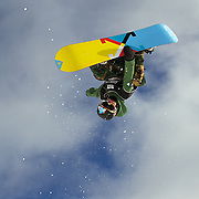 Taylor Gold, USA, in action during the Men's Half Pipe Qualification in the LG Snowboard FIS World Cup, during the Winter Games at Cardrona, Wanaka, New Zealand, 27th August 2011. Photo Tim Clayton..
