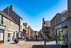 Shopping precinct central Thurso on  the North Coast 500 scenic driving route in northern Scotland, UK