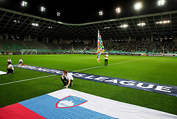 Slovenian flag prior to the football match between National Teams of Slovenia and Bulgaria in Final Tournament of UEFA Nations League 2019, on September 6, 2018 in SRC Stozice, Ljubljana, Slovenia. Photo by Morgan Kristan / Sportida