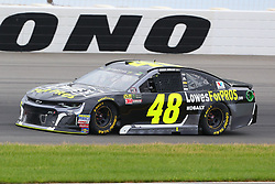 June 3, 2018 - Long Pond, PA, U.S. - LONG POND, PA - JUNE 03:  Jimmie Johnson (48) drives the Lowe's for Pros Chevrolet during the Monster Energy NASCAR Cup Series - Pocono 400 on June 3, 2018 at Pocono Raceway in Long Pond, PA.  (Photo by Rich Graessle/Icon Sportswire) (Credit Image: © Rich Graessle/Icon SMI via ZUMA Press)