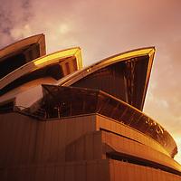 Sydney Opera House in sunset glow