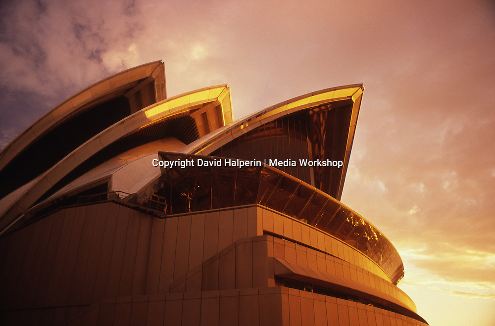 Sydney Opera House in sunset glow