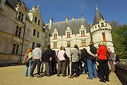 Located in the Loire Valley, the chateau of Azay-le-Rideau was built from 1515 to 1527, one of the earliest French Renaissance chateaux. Built on an island in the Indre River, its foundations rise straight out of the water. The sculptural details at Azay are particularly remarkable. Now Azay-le-Rideau is surrounded by a distinctly nineteenth-century parklike English landscape garden.