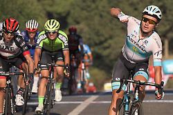 October 12, 2018 - Selcuk, Turkey - Alexey Lutsenko of Kazahkstan and Astana Pro Team wins the fourth stage - the Sportoto Stage 205.5km Marmaris - Selcuk, of the 54th Presidential Cycling Tour of Turkey 2018. .On Friday, October 12, 2018, in Selcuk, Turkey. (Credit Image: © Artur Widak/NurPhoto via ZUMA Press)