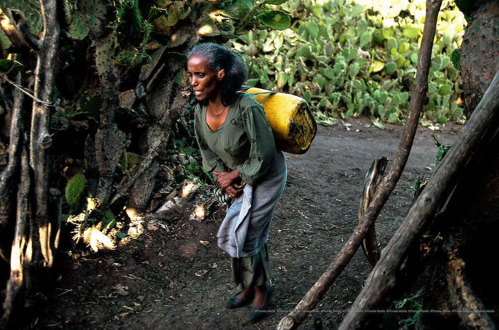 In the district of Samre, water consumption per person per day is little more than five litres; in rich countries, it is 250 litres. The amount of water that one person uses when they flush the toilet is the same amount they have in Samre to wash, drink and cook for an entire day. Samre, Ethiopia.