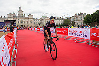 Kenny Elissondea of Team Sky approaches the start-line for the Prudential RideLondon-Surrey Classic in Horse Guards Parade 30/07/2017<br /> <br /> Photo: Jon Buckle/Silverhub for Prudential RideLondon<br /> <br /> Prudential RideLondon is the world's greatest festival of cycling, involving 100,000+ cyclists – from Olympic champions to a free family fun ride - riding in events over closed roads in London and Surrey over the weekend of 28th to 30th July 2017. <br /> <br /> See www.PrudentialRideLondon.co.uk for more.<br /> <br /> For further information: media@londonmarathonevents.co.uk