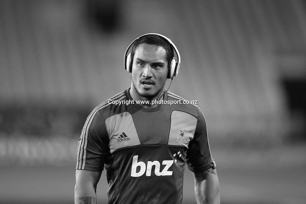 Hosea Gear.<br /> Investec Super Rugby - Highlanders v Stormers, 7 April 2012, Forsyth Barr Stadium, Dunedin, New Zealand.<br /> Photo: Rob Jefferies / photosport.co.nz