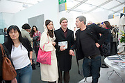 Lisa K Samoto ; WOLFE LENKIEWICZ; GERVASE CLIFTON-BLIGH, Opening of Frieze 2009. Regent's Park. London. 14 October 2009 *** Local Caption *** -DO NOT ARCHIVE-© Copyright Photograph by Dafydd Jones. 248 Clapham Rd. London SW9 0PZ. Tel 0207 820 0771. www.dafjones.com.<br /> Lisa K Samoto ; WOLFE LENKIEWICZ; GERVASE CLIFTON-BLIGH, Opening of Frieze 2009. Regent's Park. London. 14 October 2009