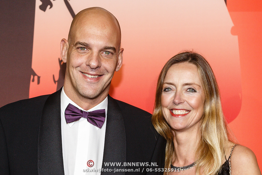 NLD/Amsterdam/20151215 - NOC / NSF Sportgala 2015, Marcel Wouda en partner