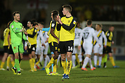 Conor Shaughnessy of Burton Albion (16) applauds the fans during the EFL Sky Bet League 1 match between Burton Albion and Oxford United at the Pirelli Stadium, Burton upon Trent, England on 11 February 2020.