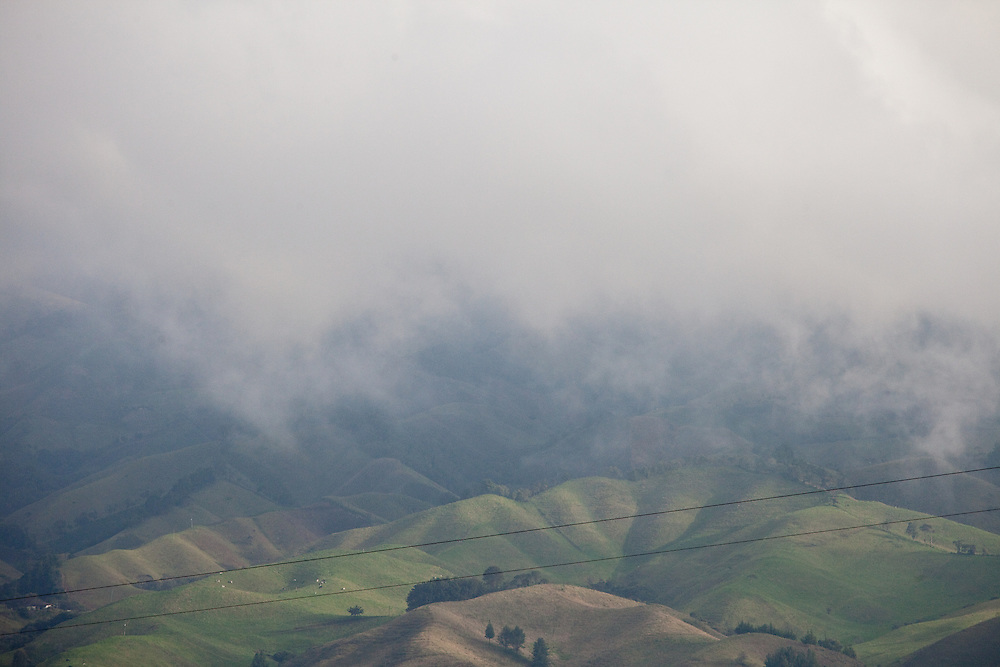View of surrounding hills from Sonson, Antioquia, Colombia