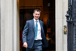 © Licensed to London News Pictures. 27/06/2017. London, UK. Health Secretary JEREMY HUNT attends a cabinet meeting in Downing Street, London on Tuesday, 27 June 2017. Photo credit: Tolga Akmen/LNP
