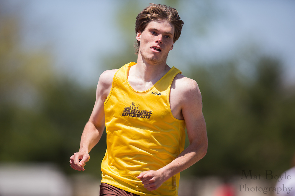 Rowan University's Michael Lewis competes in the men's 800 meter at the NJAC Track and Field Championships at Richard Wacker Stadium on the campus of  Rowan University  in Glassboro, NJ on Sunday May 5, 2013. (photo / Mat Boyle)