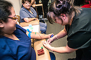 TCCD Phlebotomy Program at the Trinity River East Campus, Fort Worth Texas, February 2017