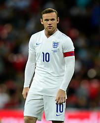 England captain, Wayne Rooney (Manchester United) - Photo mandatory by-line: Joe Meredith/JMP - Mobile: 07966 386802 - 3/09/14 - SPORT - FOOTBALL - London - Wembley Stadium - England v Norway - International Friendly