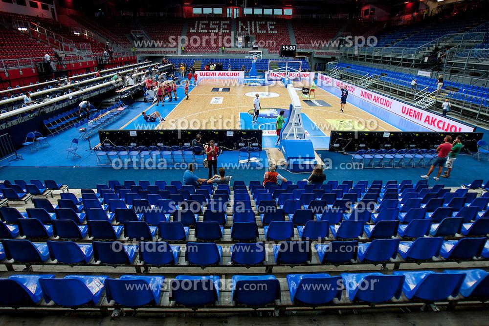 Sports hall Podmezakla before friendly match between National teams of Slovenia and Bosnia and Herzegovina for Eurobasket 2013 on August 16, 2013 in Podmezakla, Jesenice, Slovenia. (Photo by Urban Urbanc / Sportida.com)