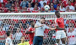 19.06.2016, Stade Pierre Mauroy, Lille, FRA, UEFA Euro, Frankreich, Schweiz vs Frankreich, Gruppe A, im Bild Johan Djourou (SUI), Andre Pierre Gignac (FRA), Breel Embolo (SUI) // Johan Djourou (SUI), Andre Pierre Gignac (FRA), Breel Embolo (SUI) during Group A match between Switzerland and France of the UEFA EURO 2016 France at the Stade Pierre Mauroy in Lille, France on 2016/06/19. EXPA Pictures © 2016, PhotoCredit: EXPA/ JFK